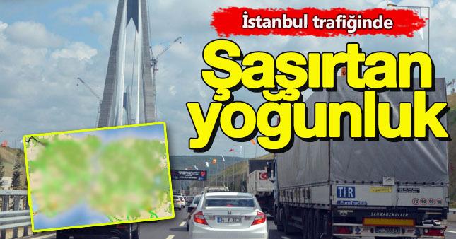 istanbul trafiği bu sefer azaldı