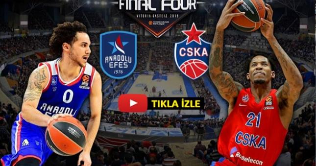 Anadolu Efes-CSKA Moskova maçı izle