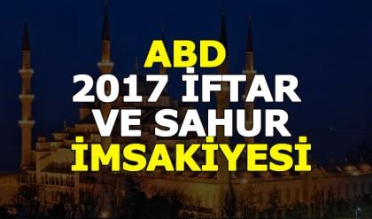 ABD (Amerika) iftar ve sahur vakitleri 2017 Amerika Ramazan imsakiyesi