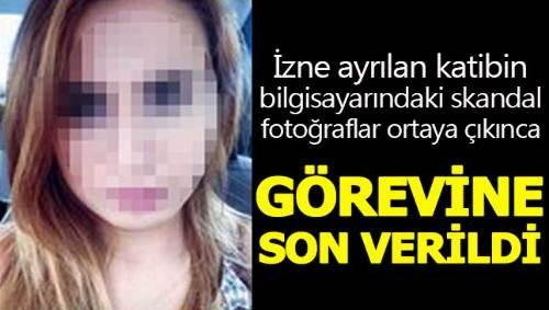 Adliye katibinin bilgisayarındaki skandal fotoğraflar şoke etti