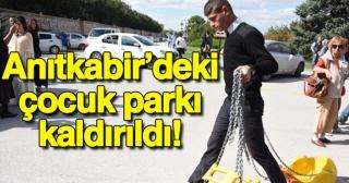 Anıtkabir'deki çocuk parkı kaldırıldı