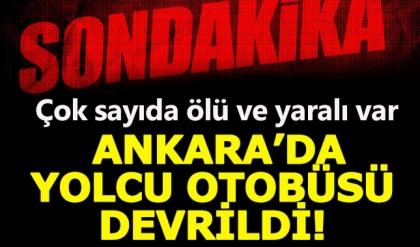 Ankara Kalecik'te yolcu otobüsü kaza yaptı:8 Ölü, 34 Yaralı