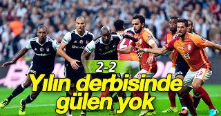 Beşiktaş 2-2 Galatasaray Maç sonucu  (Maçın özeti)