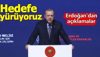 Cumhurbaşkanı Erdoğan, 12. Çalışma Meclisi açılış programında açıklamalarda bulundu