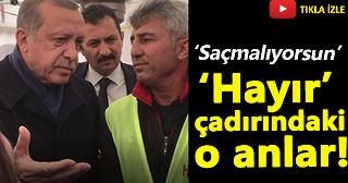 Erdoğan'ın ziyaret ettiği 'Hayır' çadırından yeni görüntüler