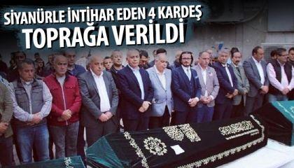 Fatih'te siyanürle intihar eden 4 kardeş toprağa verildi