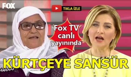 Fox TV'de Kürtçe konuşmaya sansür