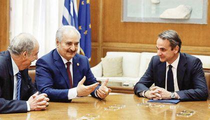 Hafter'i Atina'ya çağırıp taktik verdiler!