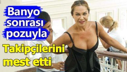 Hülya Avşar, bornozlu fotoğrafını paylaştı