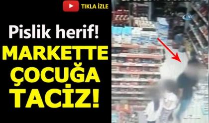 İzmir'de iğrenç olay! Çocuğa taciz anı kameralara yansıdı!