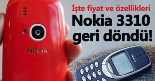 Nokia 3310 fiyatı ve özellikleri | Nokia 3310 Türkiye'de çıktı mı?