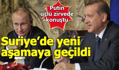Putin'den Erdoğan ve Ruhani'ye teşekkür