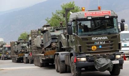 Sınıra askeri sevkiyat başladı
