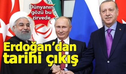 Suriye zirvesi sona erdi, Cumhurbaşkanı Erdoğan'dan terör örgütü çıkışı