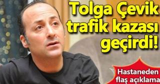 Tolga Çevik trafik kazası geçirdi!