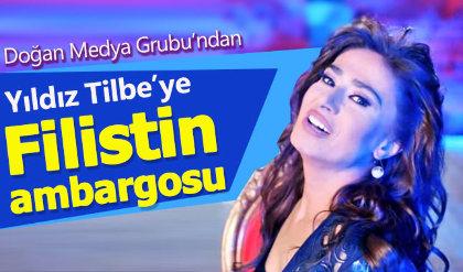 """Yıldız Tilbe'ye medyada """"Filistin"""" ambargosu"""