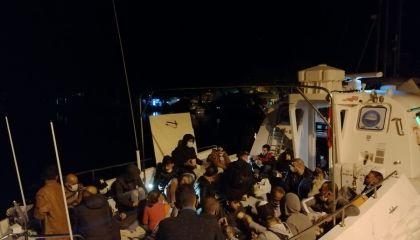 Muğla açıklarında mahsur kalan 87 sığınmacı kurtarıldı