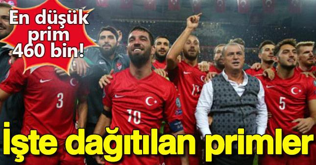 İşte Milli futbolcuların aldıkları primler!