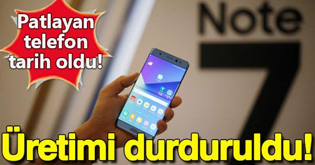 Galaxy Note 7'lerin üretimi durduruldu!