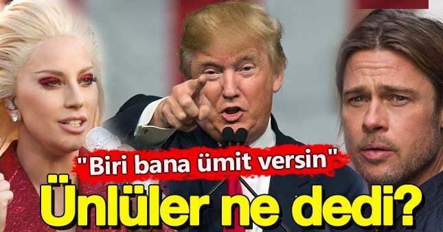 Donald Trump'ın Başkanlığına ünlülerden ilk tepkiler