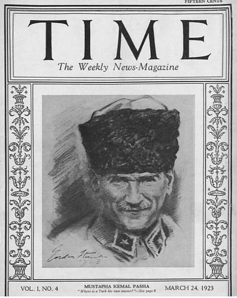 Time dergisine kapak olan 10 Türk A24