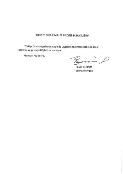 İşte madde madde yeni anayasa teklifi l Anayasa teklifinin tam metni yayınlandı A24