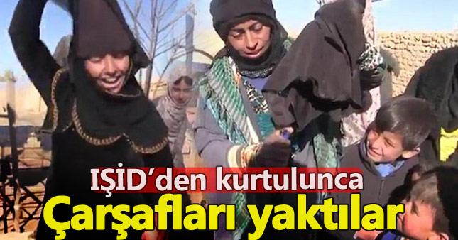 IŞİD'den kurtulunca çarşaflarını yaktılar