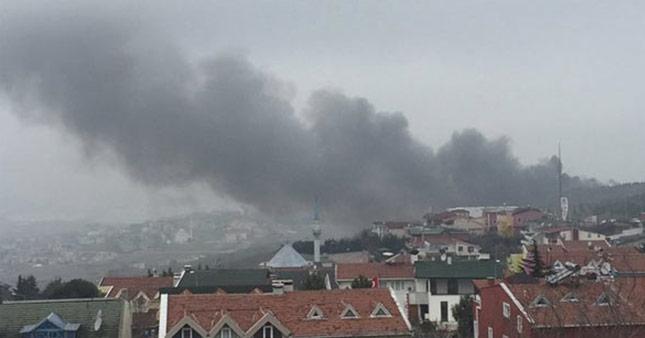 İstanbul Büyükçekmece'de helikopter düştü A24