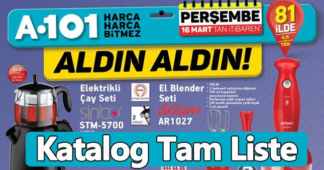 A101 İndirimli Aktüel Ürün Kataloğu - 16 Mart'ta büyük kampanya - Aldın Aldın