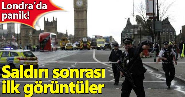 Londra saldırı anı görüntüleri