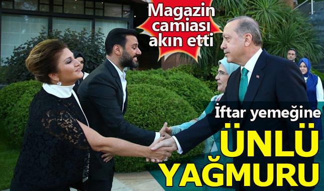 Cumhurbaşkanı Erdoğan'ın iftar yemeğine ünlü yağmuru