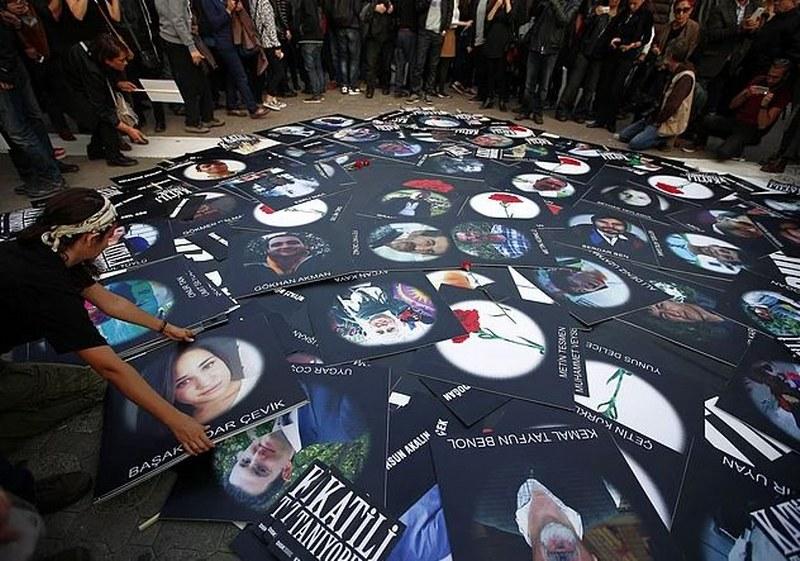 2.yılında 10 Ekim Ankara gar patlamasının kurbanları anıldı... A24