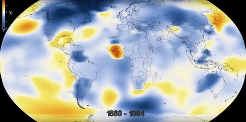 2017 sıcaklık rekoru kıracak! (NASA'nın gözünden Dünya'nın 137 yıllık değişimi) A24