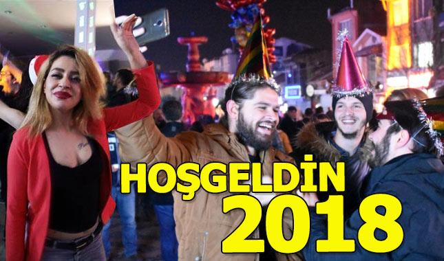 Türkiye'de 2018 yılbaşı kutlaması manzaraları