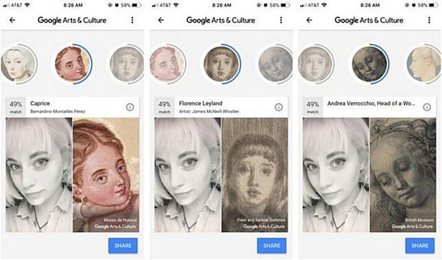Google'dan kullanıcıların müzelerdeki ikizlerini bulan yeni uygulama