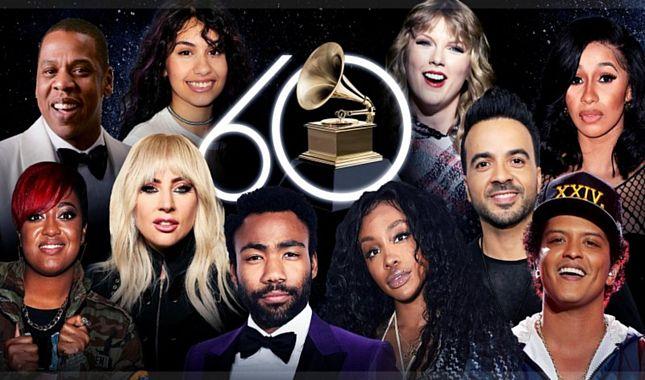 2018 Grammy Ödül Töreni'nde şıklık yarışı (Şeyma Subaşı kırmızı halıda)