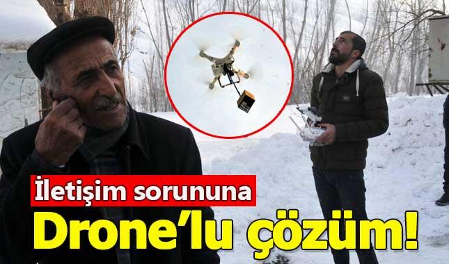 İletişim problemine drone'lu çözüm