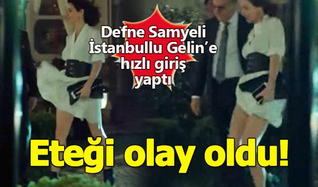 İstanbullu Gelin dizisinde Defne Samyeli'nin etek şovunu gördünüz mü?