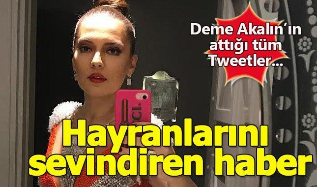 Demet Akalın'ı twitter üzerinden takip edenlere sevindirici haber...