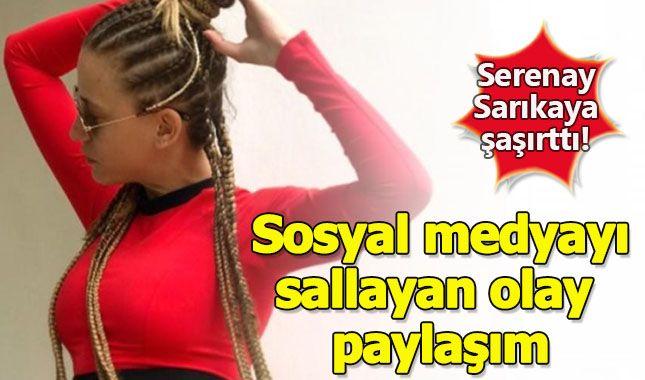 Serenay Sarıkaya'nın Instagram hesabı üzerinden paylaştığı resim, Sosyal Medyayada olay oldu!