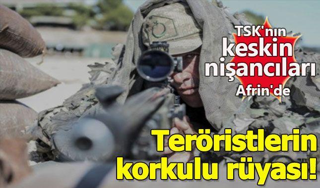 Teröristlerin korkulu rüyası Keskin Nişancılar Afrin'de