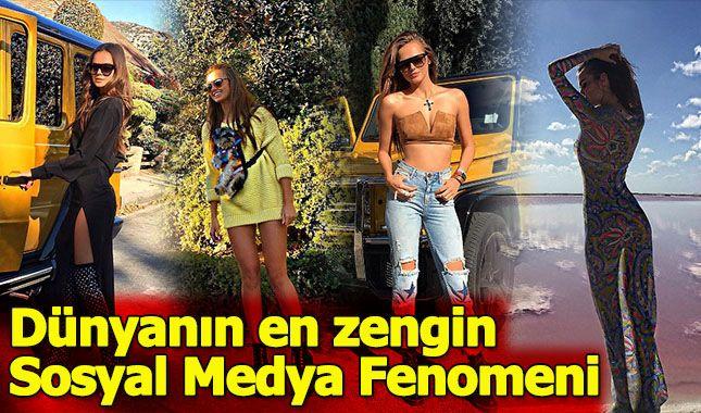 İşte dünyanın en zengün sosyal medya fenomeni Xenia Deli,