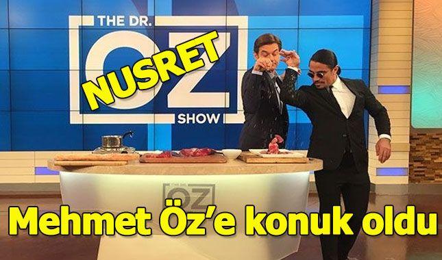Nusret şovunu bu sefer Dr. Mehmet Öz'ün programında yaptı
