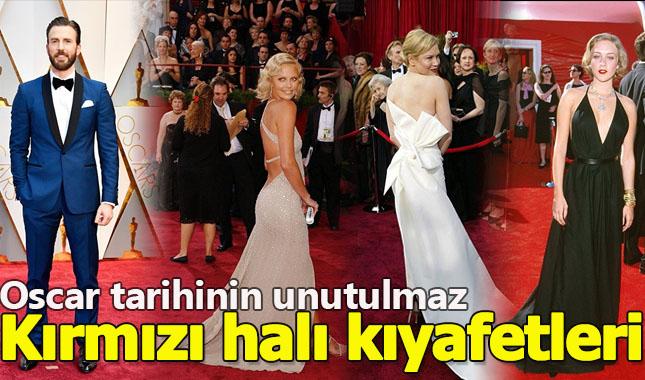 Oscar tarihinin unutulmaz kırmızı halı kıyafetleri