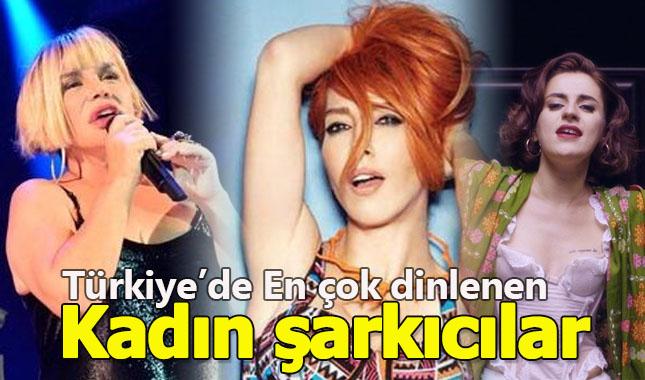 Türkiye'de en çok hangi kadın şarkıcılar dinleniyor?