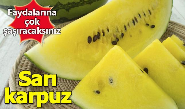 Sarı karpuzun faydaları nedir nerede yetişir faydaları nelerdir? A24