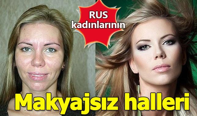 Rus kadınların makyajsız halleri A24