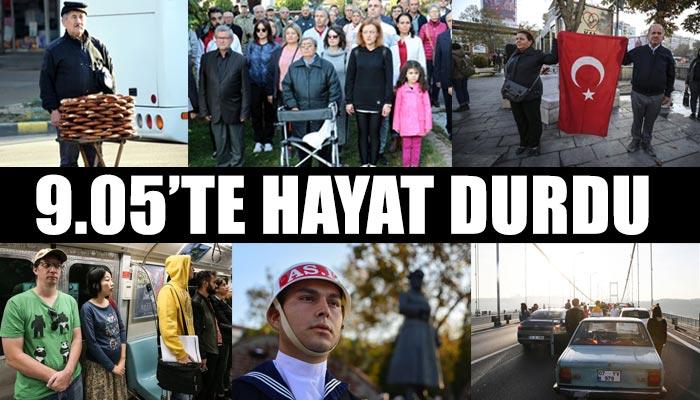 9.05'te Türkiye'de hayat durdu